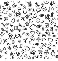 iot concept internet things icons seamless vector image