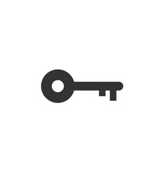 key icon silhouette design template vector image
