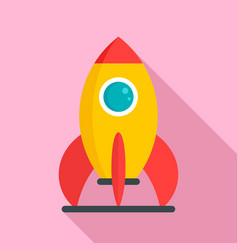 Kid amusement rocket icon flat style vector