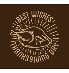 Label design template to Thanksgiving Day Black vector image