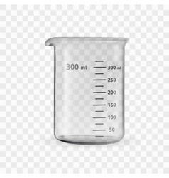 Laboratory glassware or beaker vector