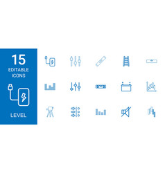Level icons vector