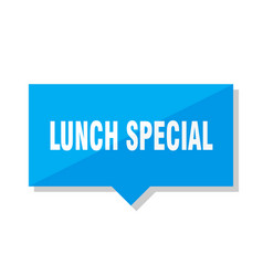 Lunch special price tag vector