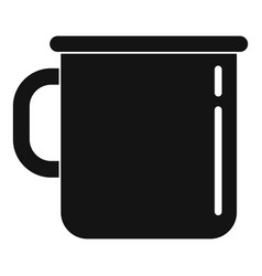 Metal cup icon simple style vector