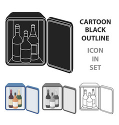 mini-bar icon in cartoon style isolated on white vector image