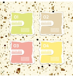 Modern torn paper for infographics infographics vector image