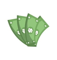 money bills dollar cash vector image