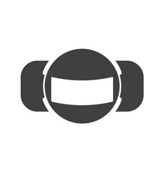 motion sensor icon on white vector image
