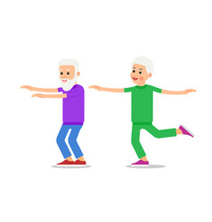 old people doing exercises healthy lifestyle vector image