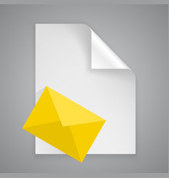 Paper symbol letter vector
