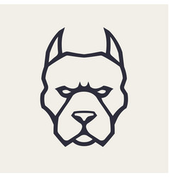 pitbull mascot icon vector image