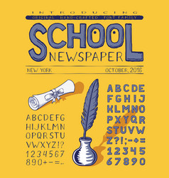 School newspaper crafted vector