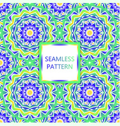 Seamless pattern design mandala round elements vector