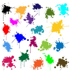 Set of ink in different colors vector image vector image