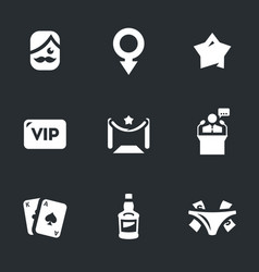 Set of man club icons vector