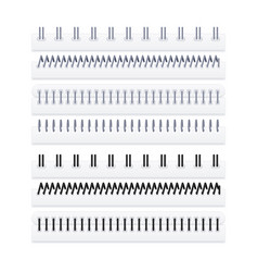 Set spirals for notepads vector