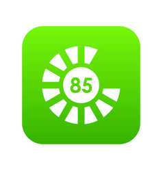 sign 85 load icon digital green vector image