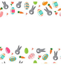 simple background with ornamental eggs and vector image