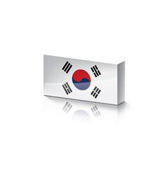 South korean flag on a white vector