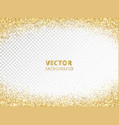 Sparkling glitter border frame falling golden vector
