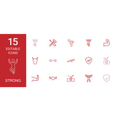 strong icons vector image