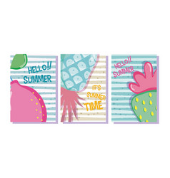 summer time cards concept vector image
