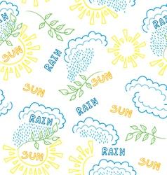 sun rain pattern vector image