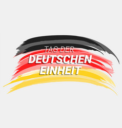tag der deutschen einheit concept background hand vector image