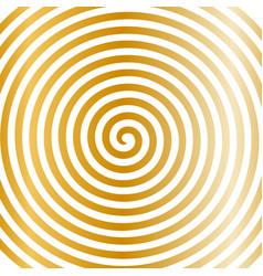 white gold round abstract vortex hypnotic spiral vector image