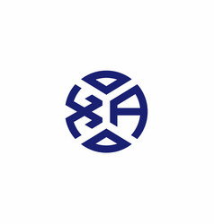 Xa monogram logo with abstract shapes in modern vector