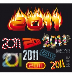2011 set vector image vector image