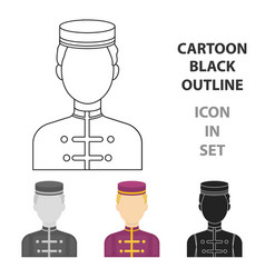 bellboy icon in cartoon style isolated on white vector image vector image