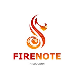 Fire Note Logo vector image vector image
