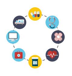 hospital medicine tools icon vector image vector image