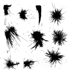 ink drawn shapes vector image