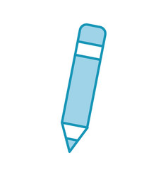 pencil writing instrument vector image