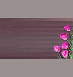realistic colorful pink tulips set on vector image vector image
