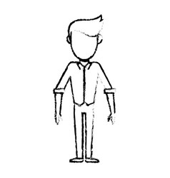 sketch man male faceless standing vector image vector image