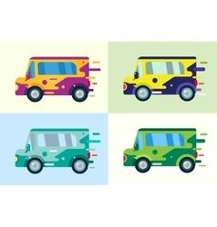 cartoon car icon vector image vector image