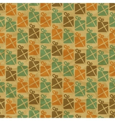Retro Christmas Gifts Pattern vector image vector image