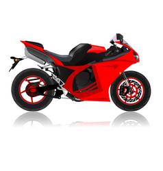 super bike vector image