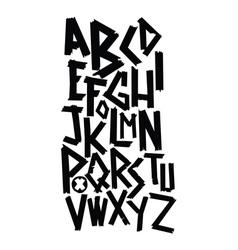 Broken font vector