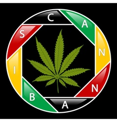 Cannabis icon-background vector image
