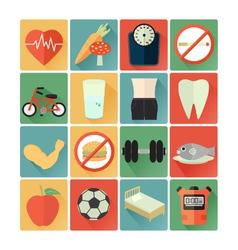 Flat icons health vector