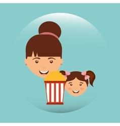 Movie viewer design vector