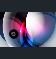 overlapping circles on glowing abstract background vector image