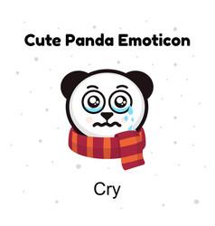 panda bear crying a panda bear weeps vector image vector image