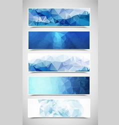 Polygonal Banners Set 2 vector image