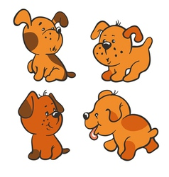 Puppies vector image vector image