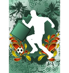 soccer summer background vector image vector image